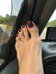 On the Road - Toed! (toepaintguy) Tags: male guy men man masculine boy nail nails fingernail fingernails toenail toenails toe foot feet sandal sandals polish lacquer gloss glossy shine shiny sexy fun daring allure gorgeous glitter maroon red brown creme