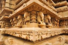 Sculptures in Khajuraho (PiccolaSayuri) Tags: khajuraho hindu india sculptures temples rajasthan haryana uttarpradesh madhyapradesh delhi mandawa bikaner jaisalmer jodhpur udaipur jaipur agra fathpursikri gwalior orchha varanasi incredibleindia forts colours people faces