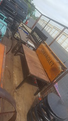 Repurposed Furniture Truck Tailgate Garden Bench (Raymond Guest) Tags: gardenbench recycledart gardenideas garden gardening gardenfurniture outdoorgarden