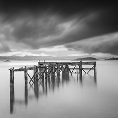 Isolation (Pete Rowbottom, Wigan, UK) Tags: longexposure longexposurelandscape blackandwhitelongexposure blackandwhite blacknwhite mono monochrome sea seascape coast coastal coastalscotland scotland fife peterowbottom slowshutterspeed stillwater nikond750 squareformat fineart coastuk uklandscape ukcoast ukcoastline aberdour abandoned ruins clouds cloudscape stormclouds lothiancoast lothian surreal dramatic inchcolm jetty seaside landscape moodylandscape moodyscotland scottish scottishcoast scottishlandscape 35mm
