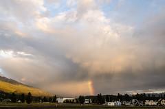 Rocky Rainbow (James Dun) Tags: sunset rainbow weather clouds thunderstorm jasper alberta canada rocky mountaineer train railroad holiday nikond7000