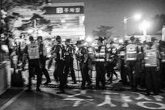 _DSC0152 (MySICNESS) Tags: photo photography photograph photojournalism journalism documentary monochrome blackandwhite seoul korea funeral hospital police enforcement solidarity confront confrontation demonstration democracy autopsy