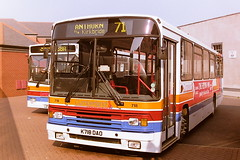 STAGECOACH CUMBERLAND 718 K718DAO (bobbyblack51) Tags: stagecoach cumberland 718 k718dao volvo b10m60 alexander ps carlisle bus station 1995