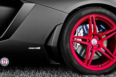 Lamborghini Aventador LP700 Matte Black on HRE P47SC Satin Red Teaser (HRE Wheels) Tags: red black texas satin lamborghini matte valentino hre aventador autodynamica lp700