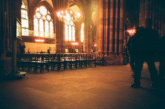 ... (icomewhenieatcaponata) Tags: christmas old decorations light people orange france building film architecture analog cn buildings photography lights lomo lca lomography frankreich alone view cathedral tourists strasbourg alsace 100 analogue fn フランス 法国 프랑스 франция peppopeppo puddicinu lomographycn100