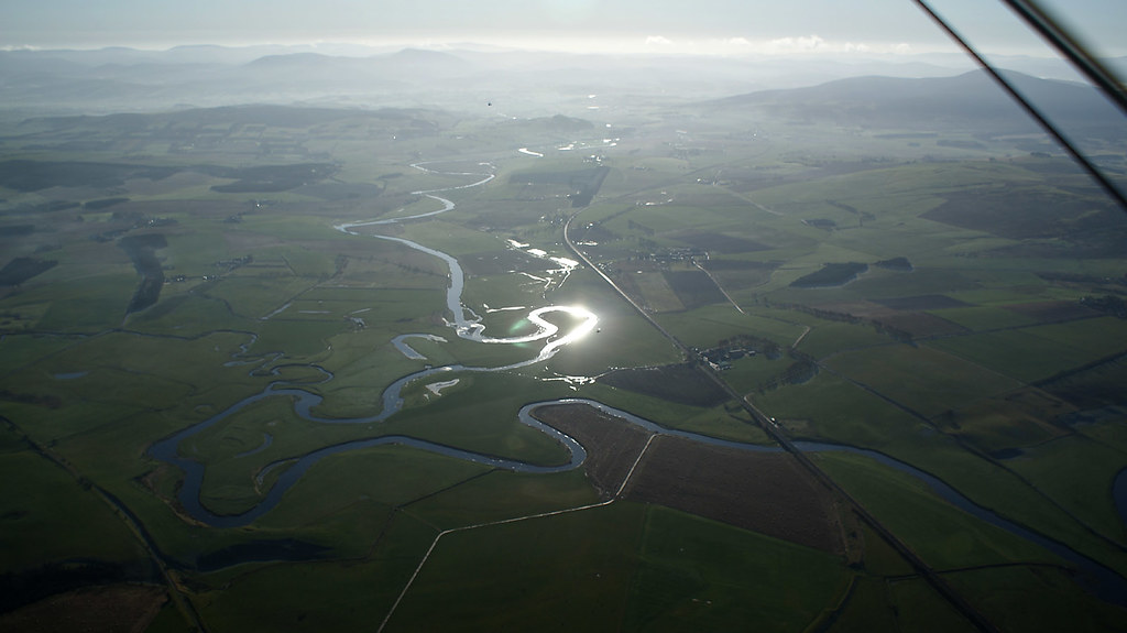 River Clyde snaking towards Biggar