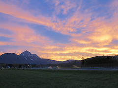 Sunset ~ (rotraud_71 away again ~) Tags: sky clouds evening afterglow staufen salzburgerland wals hgl blinkagain