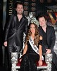 Brendan Scully, Rebecca Maguire and Sean Montague The re-crowning ceremony of Miss Ireland 2012 after the former winner Maire Hughes was found to be too old to be eligible for the Miss World competition Dublin, Ireland