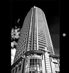Building the dark (Az. Abdulrahman Alzahim) Tags: sky white black clouds canon buildings reflections photography 1 nikon raw photographer photos sydney australia az architectural abstraction effect hdr santo photographe darknes xiii awesomeshot