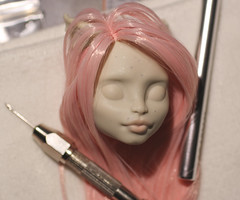 Rock Candy (Amber-Honey) Tags: monster amber high mod doll honey custom mattel rochelle repaint reroot goyle