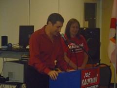 Joe Kaufman, keynote speaker at the Broward Tea Party