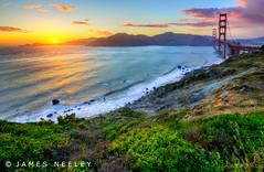Golden Gate Sunset (James Neeley) Tags: sanfrancisco california goldengatepark sunset landscape goldengatebridge hdr f12 5xp jamesneeley flickr26