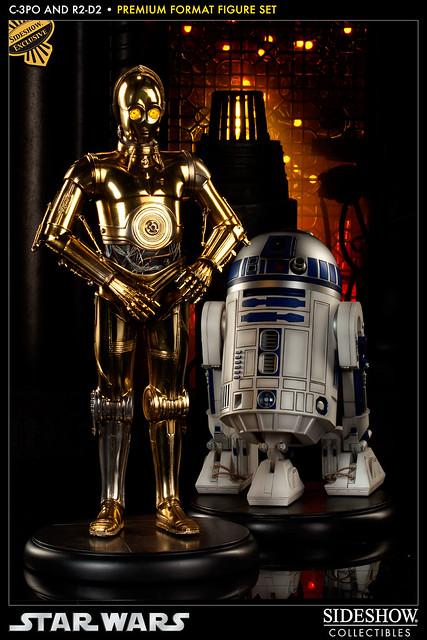 Sideshow - C-3PO 與 R2-D2 Premium Format 雕像