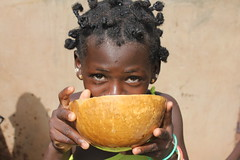 Nakar - School Girl Drinking Water from a Calabash
