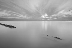 hindeloopen seascape II black and white (koworu) Tags: sunset blackandwhite white seascape black color netherlands june canon sundown wideangle 7d scape tamron hindeloopen 2012 waterscape