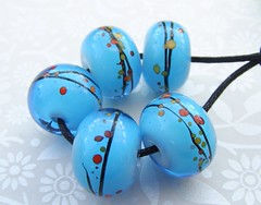 Warm Shores (2) (Glittering Prize - Trudi) Tags: blue glass beads warm handmade wrap shores artisan frit glitteringprize