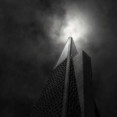 beacon (nlwirth) Tags: sanfrancisco california monochrome downtown financialdistrict yup transamerica pyramidbuilding 600montgomery nlwirth