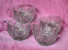 Punch Cups (M.P.N.texan) Tags: cup glass vintage cups thriftstore cutglass pressedglass