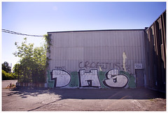 DHS (Rage5) Tags: wall graffiti montreal bruce rage chrome burner dhs bombing bruse croes fillin brucer rage5 bruser croe russelcroes