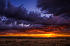 A Potent Pawnee Eventide (Fort Photo) Tags: sunset sky nature clouds skyscape landscape cool nikon colorado warm sundown dusk weld co prairie cloudscape grasslands pawnee pawneenationalgrasslands eventide d700 2012a