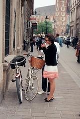 (cosmonautix) Tags: bicycle poland krakow analogue rower nikonn75 krakoff bikechic kodakektar100 kodak100ektar bicyclesinkrakow świętocykliczne świętocykliczne2012