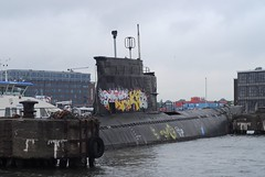 Submarine, NDSM-Werf, Amsterdam (Forest Pines) Tags: holland amsterdam port dock russia harbour nederland submarine wharf soviet netherland ij sovietunion ussr noordholland ndsm amsterdamnoord ndsmwerf northholland project611 zuluclass