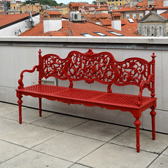 Red Bench On The Roof [Trieste - 20 May 2012] (Doc. Ing.) Tags: red italy museum bench ts fvg trieste 2012 friuliveneziagiulia nordest museorevoltella