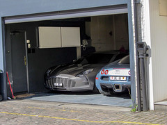 Just an ordinary garage.. (Rado .) Tags: london speed martin ferrari porsche bugatti lamborghini fastest aston supercars veyron rado hypercars one77