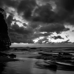 Grey and wet (StephEvaPhoto) Tags: longexposure beach rain clouds sunrise rocks cloudy sydney australia newportbeach newsouthwales canoneos northernbeaches 50d brokencloud sigma1750mmf28exdcos