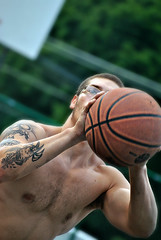 Shoot & Score_01 (nemo_434) Tags: shirtless men basketball guys