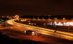 interno citt (Lollo [neon]) Tags: street city rome roma nikon strada italia luci stazione notte lampioni paesaggio citt notturno tiburtina scie d80 stazionetiburtina