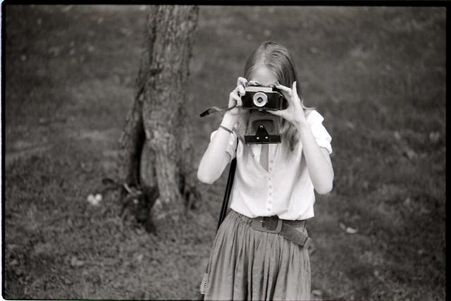 Olga w/ camera, Moscow