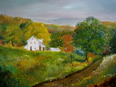 New York Farm House -oil