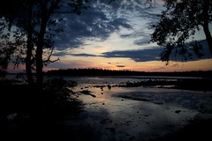 North night (vozorom) Tags: sunset sea summer flower green church girl boat rocks seagull north monastery