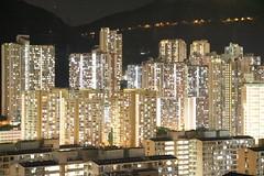 Twinkling Lights of Myriad Families (wilwilwilsonsonson) Tags:    publichousing  family household  nightscene hongkong