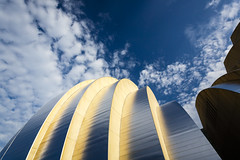 Kauffman Center for the Performing Arts (Notley) Tags: outdoor architecture sky clouds kansascity kansascitymissouri kauffmancenterfortheperformingarts kauffmancenter 2014 july httpwwwnotleyhawkinscom notleyhawkinsphotography notley notleyhawkins 10thavenue concerthall