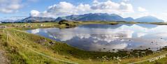 Camping Hfn (P8062096_P8062098-3 images_1280) (dr_cooke) Tags: islandia iceland pano panorama hfn campsite camping reflection lagoon