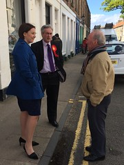 Campaigning with Kezia Dugdale on North Berwick High Street