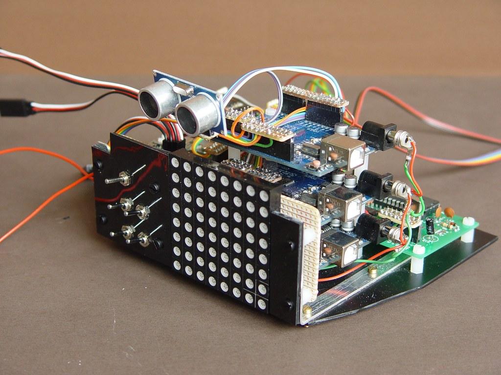 The Worlds Best Photos Of Veroboard Flickr Hive Mind Stripboard Matrix Board Design Software Electrical Omnibot Brain Transplant Wcrpaul Tags Robot Arduino Uno Cd4051 Sp0256 Te174 Hcsr04