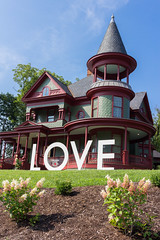 Virginia is for Lovers [Explored 2016-08-15] (repete7 (out taking photos!)) Tags: blacksburg virginia unitedstates blacksburgva usa victorian victorianhouse love virginiaisforlovers architecture queenanne