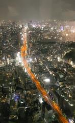 A river of light,Tokyo Roppongi (sapphire_rouge) Tags:   sculpture  darkness   girl night tokyotower japanese yukata tokyo   nightview roppongi shinjuku  japan  nighview illumination lady metropolitan expressway