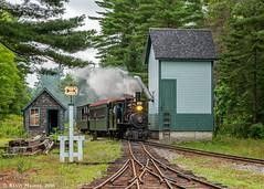 Sheepscot Arrival (kdmadore) Tags: wwf wiscassetwatervillefarmington wiscasset alna steamlocomotive railroad narrowgauge maine2foot wwfry train