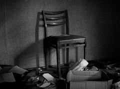 No one sits on me anymore (markorsr) Tags: abandonedhouse blackandwhite bw chair fomapan fomapan100 fomapanfilm mamiya mamiyam645 mess monochrome xtol xtol11 mediumformat reciprocity