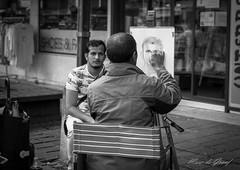 Drawing! (Marc de Graaf) Tags: street bw black white sharp focus nikon contrast photography