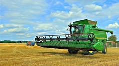 Just Before the smile (Jan 130) Tags: harvest combineharvester field topazimpression2 pencilsketch