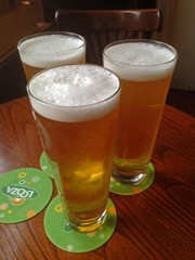 Three Out of Four Ain't Bad (RoystonVasey) Tags: apple iphone 5 west yorkshire huddersfield pub beer real ale pint glass
