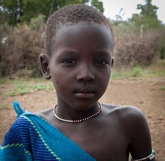 Mursi Girl, Ethiopia (Rod Waddington) Tags: africa african afrika afrique ethiopia ethiopian ethnic etiopia ethnicity ethiopie etiopian thiopien omovalley omo outdoor child girl female mursi tribe traditional tribal portrait face