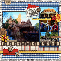 Frontierland Cover (girl231t) Tags: 04year 0scrapbooking 2015 zzmyscrapbookpages 0photos scrapbook layout 12x12layout digi disney disneyland projectmouse