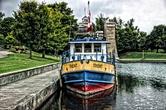 Peterborough Ontario ~ Canada ~  Peterborough Lift Lock National Historic Site of Canada ~ Trent Tour Boat (Onasill ~ Bill Badzo) Tags: peterborough on ontario canada county lift lock canal national historic site otonabee river trent city trentsevern waterway kawartha region cottage country seat onasill attraction clouds sky hdr travel tourist boats canon sl1 rebel lens sigma 18250mm macro outdoor cloud water tugboat tour 1001nights