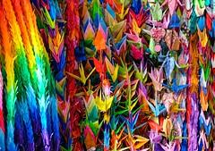 Hiroshima VI (Douguerreotype) Tags: remembrance memorial hiroshima japan war ww2 paper crane peace colourful